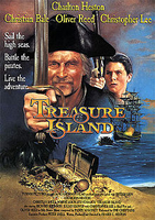 "18. ""L'Isola del Tesoro"", di Fraser Heston (1990), con Charlton Heston, Christian Bale, Oliver Reed e Christopher Lee."